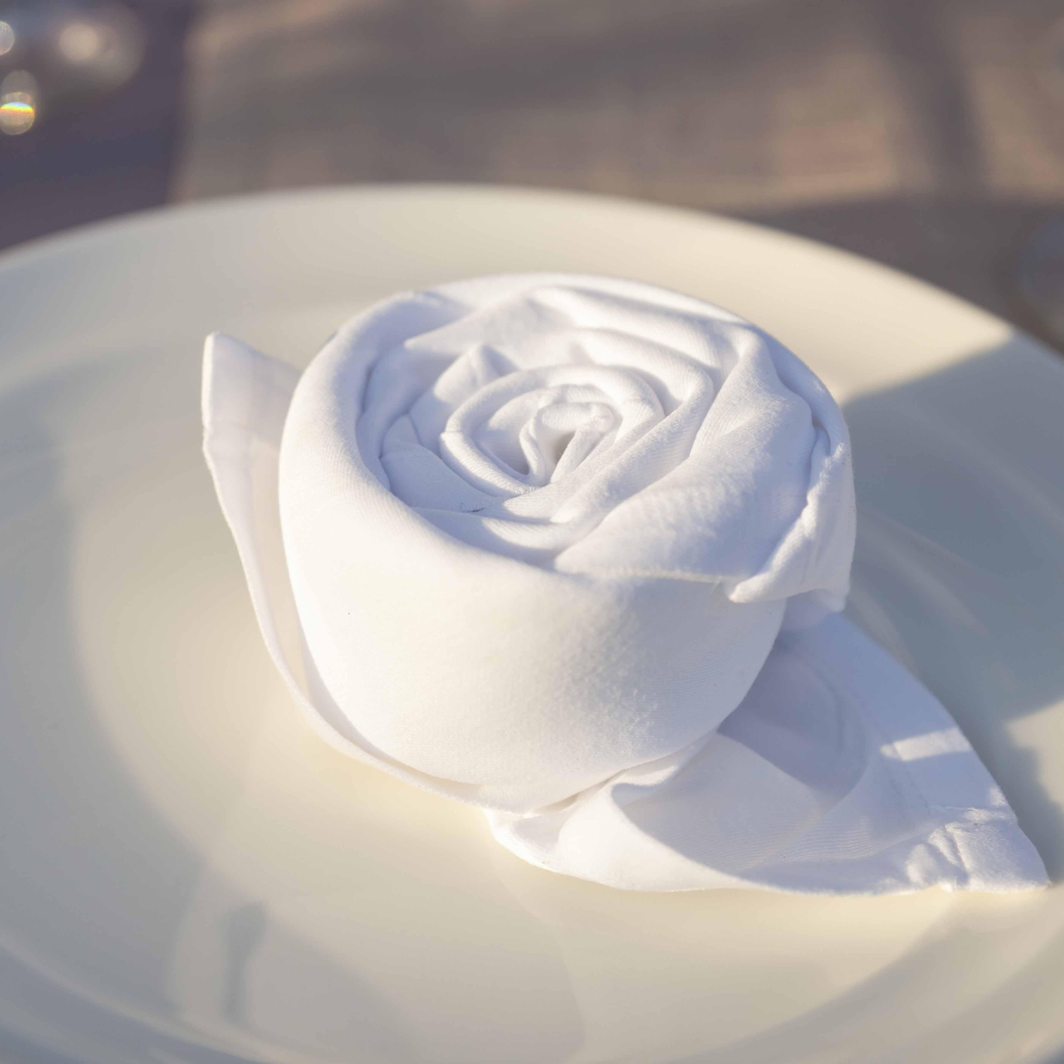 Fold Napkin Into Rose Folded Napkins Into Roses With Fold Napkin