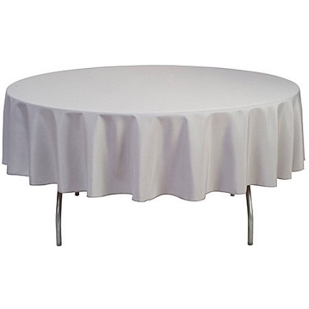 White Round Tablecloth Size 108 Hireware